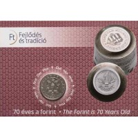 2016 70 years of Forint coin - Cu-Ni non-ferrous metals coin